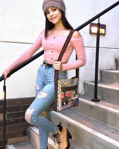 Imagen de clothes, fashion, and outfit Girl Outfits, Casual Outfits, Cute Outfits, Disney Channel, Jenna Ortega, Teen Actresses, Tween Fashion, Celebrity Outfits, Disney Girls