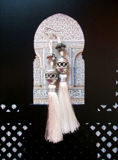 Moroccan Silk Tassels and Beads Earrings  di DeniseAliceStyle, €15,00