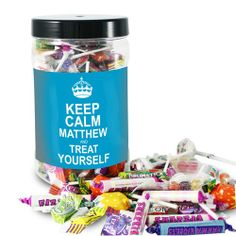 Personalised Keep Calm Large Sweet Jar - For Him  from Personalised Gifts Shop - ONLY £14.99