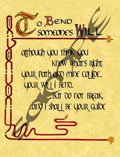 Book Of Shadows Spells | To Bend Someone's Will - The Charmed Legacy Wiki
