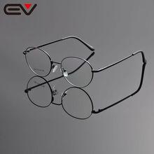 ecb3c952fcb 2016 Eyeglasses Frames Men Fashionable Eyeglass Glasses Frame Brand Round  Stainless Steel Glass Frame Women Eyewear Ev1155-in Eyewear Frames from  Men s ...