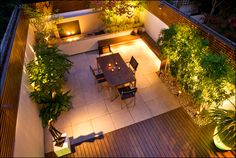 Rooftop Garden Ideas - Whether you have a rooftop garden already or you are planning to have one, these 15 plus rooftop garden design ideas and tips will help you in having the most beautiful roof terrace garden. Urban Garden Design, Terrace Garden Design, Pool Landscape Design, Contemporary Garden Design, Small Garden Design, Patio Design, Terrace Ideas, Garden Seating, Landscape Lighting