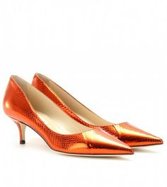 Aza Metallic Snakeskin Pumps - Lyst