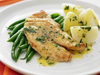 fish with lemon butter sauce (aka fish a la meuniere) Fish Dishes, Seafood Dishes, Main Dishes, Sauce Recipes, Fish Recipes, Seafood Recipes, Drink Recipes, Recipies, Easy Cooking