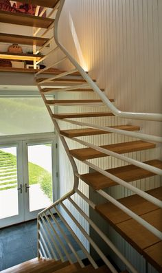 Stair at Walter Gropius and Marcel Breuer's Hagerty House (1938) in Cohasset, MA.
