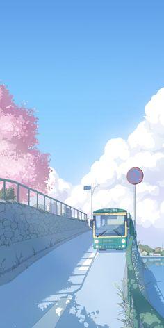 Pop Art Wallpaper, Anime Scenery Wallpaper, Kawaii Wallpaper, Cute Wallpaper Backgrounds, Pretty Wallpapers, Blue Aesthetic Pastel, Aesthetic Pastel Wallpaper, Aesthetic Backgrounds, Aesthetic Wallpapers