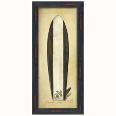 (Limited Supply) Click Image Above: Paradise Surfboard Framed Print