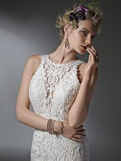 Sottero and Midgley Winifred - [Sottero and Midgley Winifred] - Buy a Maggie Sottero Wedding Dress from Bridal Closet in Draper, Utah – mybridalcloset-dev Wedding Dresses Size 14, Wedding Dress Necklines, Perfect Wedding Dress, Designer Wedding Dresses, Bridal Dresses, Wedding Gowns, Lace Wedding, Wedding Dress Pictures, Wedding Beauty