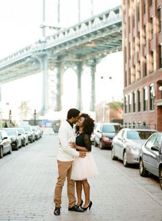 Cute Brooklyn e-sesh: http://www.stylemepretty.com/new-york-weddings/new-york-city/brooklyn/2015/04/22/casually-elegant-brooklyn-engagement-session/ | Photography: Brklyn View - http://www.brklynview.com/