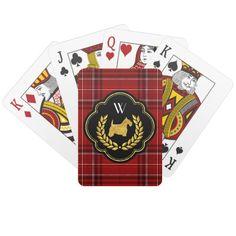 Royal Scottie Winning Hand Monogram Card Deck