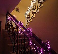ExtremeRebate--SMITHROAD LED Lichterkette 3M 400er Kugeln 2 Farben Farbwechsel mit 8 Lichteffekte 31V Niederspannung für Weihnachten Innen Außen IP44 Weihnachtsbeleuchtung mit 5M Zuleitung,Weiß&Pink