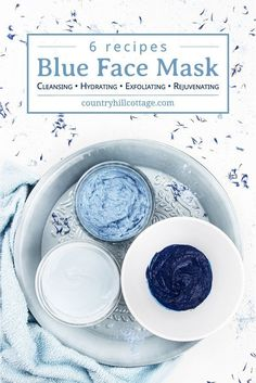 Learn 6 DIY blue clay mask recipes for glowing skin! These hydrating blue face mask ideas are gentle and a wonderful at-home skin care treatment for dry skin. A homemade hydrating face mask with blue clay is easy to make. Only 5 minutes prep is. Yogurt Face Mask, Mask For Dry Skin, Natural Beauty Recipes, Face Masks For Kids, Exfoliant, Homemade Face Masks, Clay Masks, Diy Mask, Aloe Vera