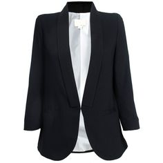 girl. by Band of Outsiders Stitch Lapel Blazer ($495) ❤ liked on Polyvore