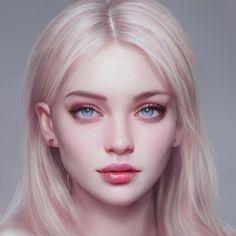Digital Art Girl, Digital Portrait, Portrait Art, Character Portraits, Character Art, Dibujos Tumblr A Color, Barbie Wedding Dress, Aesthetic Drawing, Everyday Hairstyles