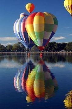 balloons overr water