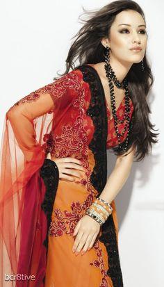 Neeta Lulla Dress Fashion, Boho Fashion, Fashion Outfits, Indian Dresses, Indian Outfits, Neeta Lulla, Net Saree, Orient Express, Indian Couture