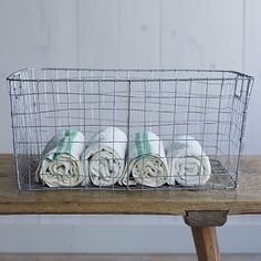 Wire Mesh Storage - Rectangular Tray   Would love to put this over the toilet for toilet paper.