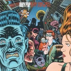 """Iggy Pop: """"Brick By Brick"""" album cover Illustration by Charles Burns Famous Album Covers, Cool Album Covers, Music Covers, Pop Albums, Great Albums, Music Albums, Comic Book Artists, Comic Artist, Lps"""