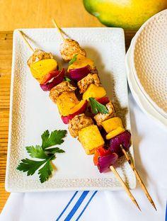 Mango Chicken Skewers Recipe