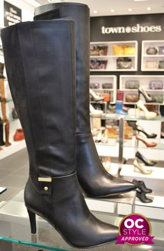 CALVIN KLEIN high heels knee high boots are so hot this fall - Oshawa Centre Style Approved by @amotherworld - Find it at Town Shoes