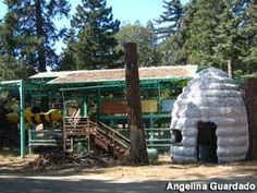 Bumble Bee Monorail remnants. Santa's Village in Skyforest California, the theme park closed in 1998. http://www.alamedainfo.com/santas_village_ca.htm