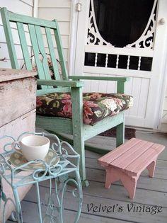 shabby chic porch decor