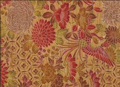 "Silk Kimono ""Rising phoenix""    http://www.kesarankimonofabric.com/"