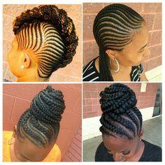 Dope braided styles! Source IG: @kiakhameleon