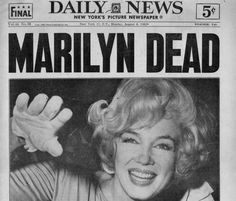 MARILYN DIED 50 YEARS AGO TODAY:  AUGUST 5, 1962.  WHAT A LOSS TO THE WORLD.