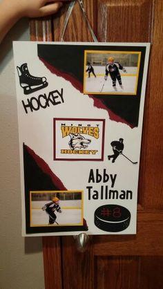 Hockey tournament door signs!