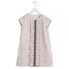 Children Spring and Autumn Dresses New Fashion 2016 Candydoll Lace Ruffle Rivets Short Sleeve 100% Cotton Kids Girls Dress