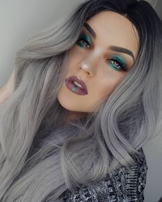 """3,024 Likes, 46 Comments - 🐱 P e t r a (@bangtsikitsiki) on Instagram: """"👑 W a t c h T h e Q u e e n C o n q u e r 👑 ○DETAILS⬇○ ▪HAIR》 @feshfen Black to Grey ombre wig…"""""""