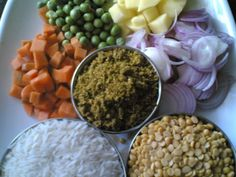 ARF #6- Bisi Bele Bath - Rice & Lentils Cooked With Vegetables and Spices - Indian food recipes - Food and cooking blog