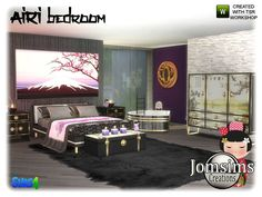 inspiration Asia here Airi bedroom sims 4  Found in TSR Category 'Sims 4 Adult Bedroom Sets'