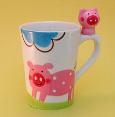 Piggy Mug with Piggy Handle