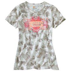 Carhartt Ladies Logo Camo print T-shirt 4a26a050f