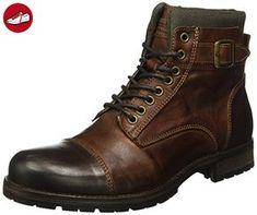 JACK & JONES Herren Jfwalbany Leather Boot Combat, Braun (Brown Stone), 43 EU - Jack jones schuhe (*Partner-Link)
