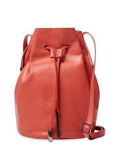 Halston Leather Bucket Bag by Halston Heritage at Gilt