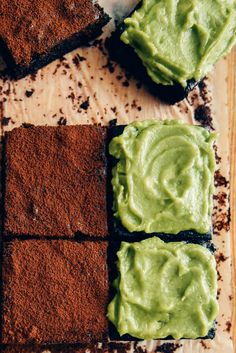 Healthier avocado brownies with dairy free avocado frosting are surprisingly delicious. No butter is used in this recipe. These brownies are wonderfully fudgy and moist thanks to avocado and coconut oil. Sweetened with banana and brown sugar. They disappear as fast as regular chocolate brownies.
