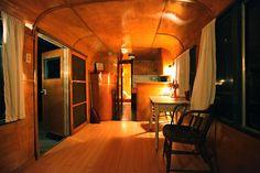 Warm and cozy vintage trailer interior.......Get Campie — vintage trailers —