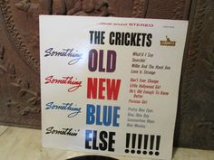 "Vintage 1984 ""The Crickets"" vinyl record with cover on the ""Liberty"" label!"