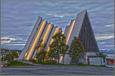 The Arctic Cathedral in Tromsø, Norway. http://www.ishavskatedralen.no/