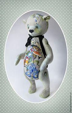 Купить Мишка №3 - мишка тедди, авторская ручная работа, мишка ручной работы