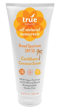 The Caribbean Coconut scent from aromatic Coconut Oil is sweet and subtle and safe for sensitive skin. This gentle and all natural mineral based formula provides an instant shield against damaging UVA and UVB rays for the face and body! AU$22.75. It's biodegradable, gluten-free and vegan - its the perfect choice for you, your family and the environment.