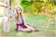 Miss Nevada Jr Teen America Model Portraits by Jamie Zanotti 16 red black flannel chambray denim dress fence country senior picture pose