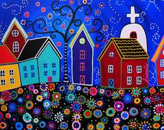 Flower Town. Original Painting available for sale. Send me a message if interested.