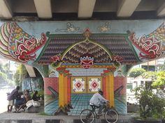 ndodenmark:  One part of a mural series under a bridge in Jogja.