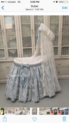 Sweet baby blue baby bed
