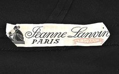 lanvin clothing labels - Google Search