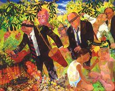 Dana Schutz<br /> <i>Men's Retreat</i>, /> oil on canvas<br /> 96 x 120 inches<br /> x cm Dana Schutz, Berlin, International Artist, Heart Art, Oeuvre D'art, Economics, Oil On Canvas, Just For You, Contemporary